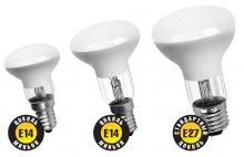 Лампа накаливания E14 и E27