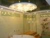 Натяжной потолок в сауне